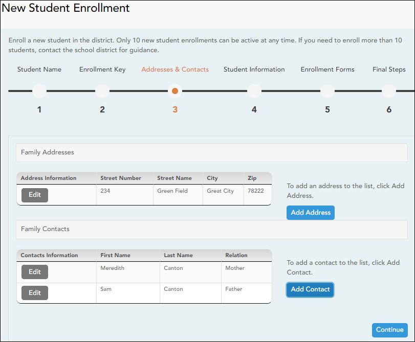 Enrollment Step 3